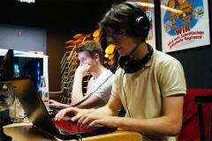 Programmieren beim Hackathon im Mai 2018. Im Jugendzentrum Utopia in Pfaffenhofen an der Ilm.