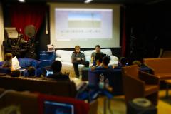 Eine Abschlusspräsentation beim Hackfest in Pfaffenhofen. Open Project hat kleine Preise vergeben. Der Hackathon war ein voller Erfolg.