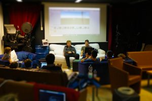 Präsentation beim Hackfest